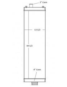 Komatsu Industrial Radiator - Fits: D275