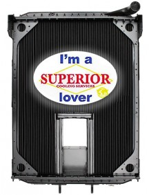 Autocar Radiator - Fits: Xpeditor WX, WXLL & Volvo Xpeditor WX & WXR Sanitation Trucks