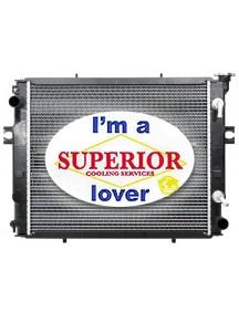 Toyota Forklift Radiator - Part # 16410U333071 (Square Wave Core)