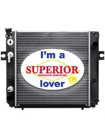 Hyster • Yale Forklift Radiator - Fits: H25 - 35XM (Square Wave Core)
