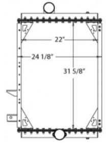 Gillig Bus Radiator - Fits: Various Models