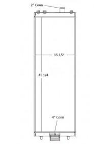 Komatsu Industrial Radiator - Fits: D155
