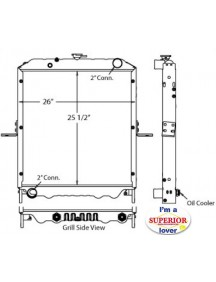 Nissan Truck Radiator - Fits: UD Diesel Models