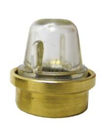 """Safety Sight Glass Assembly - 1"""" Diameter Brass Flange"""